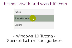 Windows 10 Tutorial- Sperrbildschirm konfigurieren