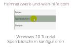 Windows 10 Tutorial- Sperrbildschirm konfigurieren