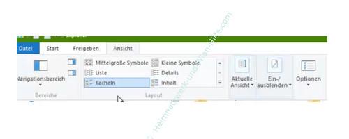 Windows 10 - Wichtige erste Anlaufstellen – Das neue Menü Ansicht des Windows Explorers