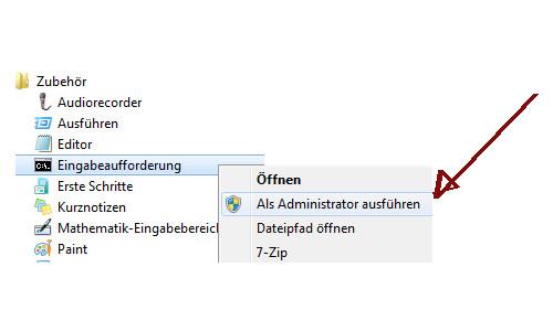 Netzwerk Tutorial: Verbindungsprobleme im Netzwerk lösen - Windows 7 Eingabeaufforderung als Administrator öffnen