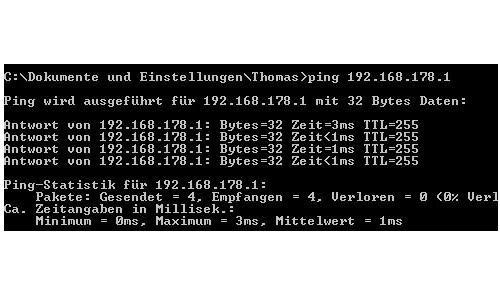 Netzwerk Tutorial: Verbindungsprobleme im Netzwerk lösen - Windows 7 Kommandozeile, Befehl Ping erfolgreich ausgeführt