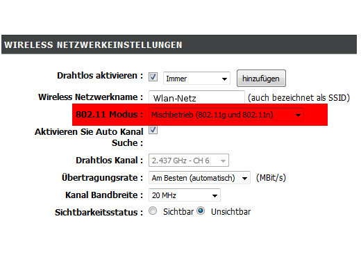 Netzwerk Tutorials: Geschwindigkeitsprobleme im WLAN-Netzwerk erkennen - Wlan Mischbetriebmodus