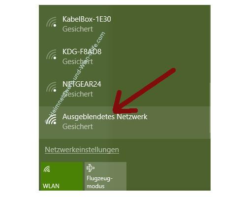 Probleme im Wlan-Netzwerk erkennen und beheben – Ausgeblendetes Netzwerk