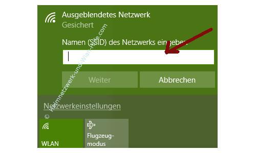 Probleme im Wlan-Netzwerk erkennen und beheben – Netzwerkname, SSID eingeben