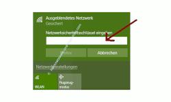 Probleme im Wlan-Netzwerk erkennen und beheben – Netzwerkschlüssel eingeben