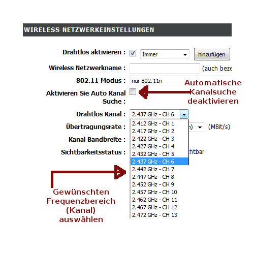 WLAN-Tipps: WLAN-Netzwerktempo optimieren! WLAN-Kanal manuell einstellen