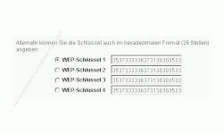 Wlan-Netzwerk Tutorial: WLAN WPA / WEP Verschlüsselung aktivieren oder ändern! Fritzbox Konfigurationsmenü - Menü Einstellungen WLAN Sicherheit Fenster WLAN-Sicherheit WEP-Verschlüsselung - Schlüssel auswählen
