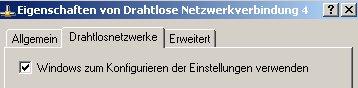 Wlan-Netzwerk Anleitungen: Wlan-Netzwerkkarte konfigurieren! Fenster WLAN-Adapter Eigenschaften - Häcken bei Windows zum Konfigurieren der Einstellungen verwenden