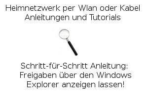 Anleitung: Freigaben über den Windows Explorer anzeigen lassen