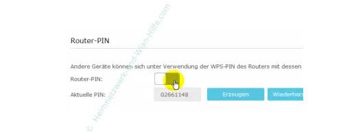 TP-Link Archer VR900v – Den vom Router vergebenen WPS-PIN-Code verwenden