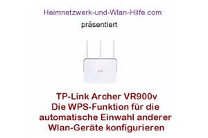 TP-Link Archer VR900v - Die WPS-Funktion konfigurieren
