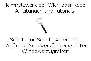 Auf eine Netzwerkfreigabe unter Windows zugreifen!