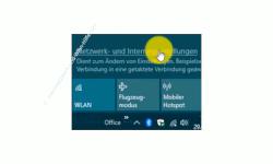 Windows 10 Tutorial - So aktivierst und speicherst du die Option: Kennwortgeschütztes Freigeben ausschalten! – Aufruf der Netzwerk- und Interneteinstellungen über das Netzwerksymbol der Taskleiste