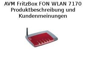 AVM FritzBox FON WLAN 7170 - Produktbeschreibung