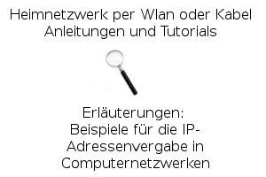 Beispiele für die IP-Adressenvergabe in Computernetzwerken title=