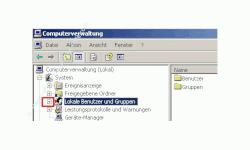 Schritt für Schritt Anleitung: Windows Konto gesperrt - Konto wieder freigeben - Benutzerkonto Sperre aufheben - Computerverwaltung - Klick auf Pluszeichen vor Lokale Benutzer und Gruppen um die Ebene zu öffnen