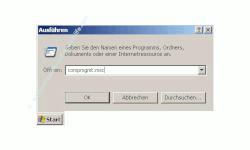 Schritt für Schritt Anleitung: Windows Konto gesperrt - Konto wieder freigeben - Benutzerkonto Sperre aufheben - Start Ausführen - Fenster Ausführen mit Eingabefeld - Eingabe von compmgmt.msc in das Eingabefeld