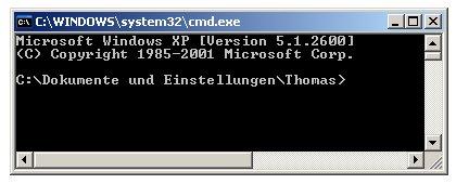 Problem im Netzwerk: Keine Netzwerkverbindung - Netzwerkverbindung mit Ping testen  -  Cmd Fenster
