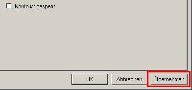 Schritt für Schritt Anleitung: Windows XP Konto gesperrt - Konto wieder freigeben - Benutzerkonto Sperre aufheben - Computerverwaltung - Eigenschaften eines gesperrten Benutzerkontos anzeigen - Option Konto ist gesperrt ist inaktiv - Häkchen ist nicht gesetzt - Änderungen übernehmen