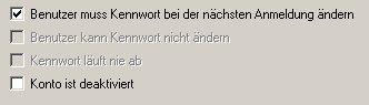 Anleitung: Benutzerkonto einrichten unter Windows XP Vista - Computerverwaltung - Benutzer muss Kennwort bei der nächsten Anmeldung ändern