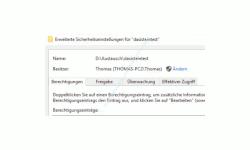 Windows 10 Tutorial - Den Zugriff auf Ordner und Dateien eines Computers überwachen! - Das Konfigurationsfenster Erweiterte Sicherheitseinstellungen