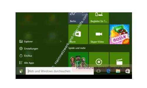 Windows 10 - Wichtige erste Anlaufstellen – Das neue Startmenü