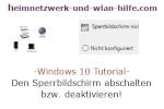 Windows 10 Tutorial - Den Sperrbildschirm abschalten bzw. deaktivieren!