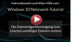 Die Datenträgerbereinigung zum Löschen unnötiger Dateien nutzen - Youtube Video Windows 10 Tutorial