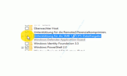 Windows 10 Netzwerk Tutorial - Warum werden Computer nicht im Netzwerk bzw. in der Netzwerkumgebung des Windows 10 Explorer angezeigt - Die Einstellung Unterstützung für die SMB 1.0/CIFS-Dateifreigabe aktivieren