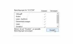 Windows 10 Tutorial - Den Zugriff auf Ordner und Dateien eines Computers überwachen! - Die erweiterten Berechtigungen des zu überwachenden Ordners aufrufen
