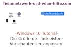 Windows 10 Tutorial - Die Größe der Taskleisten-Vorschaufenster anpassen!