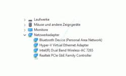 Windows 10  Tutorial - Dein Wlan-Netzwerk durch die richtige Konfiguration der Wlan-Netzwerkkarte beschleunigen! - Die Rubrik Netzwerkadapter im Geräte-Manager