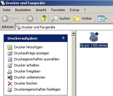 Drucker Freigeben Einrichtung Der Freigabe Eines Druckers Windows Xp
