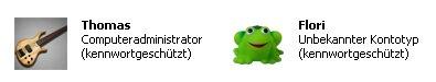 Anleitung Benutzerkonto / Benutzerkonten anzeigen lassen - Fenster Benutzerkonten - Anlegen, Einrichten, Löschen, Anpassen von Benutzerkonten