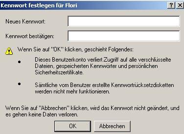 Netzwerk-Anleitung: Windows Passwort über die zentrale Gruppenverwaltung ändern! Computerverwaltung - Fenster Neues Passwort eingeben