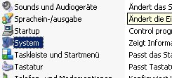 Windows XP Gerätemanager - Computernamen ändern - Fenster Systemsteuerung