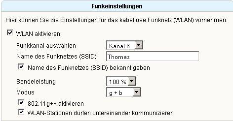 Wlan-Netzwerk Tutorial: Wlan-SSID / Wlan-Netzwerkname anpassen oder ändern! Fritzbox Konfigurationsmenü - Menü Einstellungen WLAN Fenster Funkeinstellungen