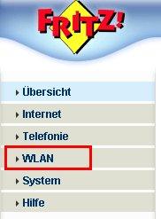 Wlan-Netzwerk Tutorial: Fritzbox Konfigurationsmenü - Menü Einstellungen WLAN