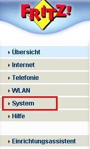 Heimnetzwerk-Tutorial: Wlan-Konfiguration Router-Passwort / Router-Kennwort ändern! Fritzbox Konfigurationsmenü - Menü System