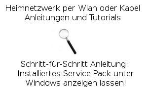 Installiertes Service Pack unter Windows anzeigen lassen!