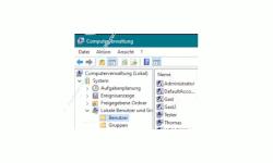 Windows 10 Tutorial - Das versteckte Administratorkonto aktivieren! - Konfigurationsfenster Computerverwaltung – Lokale Benutzer und Gruppen - Benutzer
