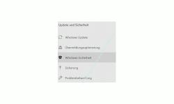 Windows 10 Tutorial - Den Schutz vor unerwünschten Anwendungen ( PUA - Potentially Unwanted Applications) aktivieren! - Konfigurationsfenster Update und Sicherheit Menüpunkt Sicherheit