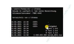 Windows 10 Tutorial - In einem Ordner enthaltene Dateien als Liste in eine Textdatei schreiben - Mit dem Befehl dir den Dateiinhalt eines Ordners anzeigen