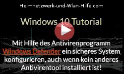 Mit dem Antivirenprogramm Windows Defender ein sicheres System konfigurieren! - Youtube Video Windows 10 Tutorial