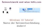 Windows 10 Tutorial - Name der Netzwerkverbindung ändern