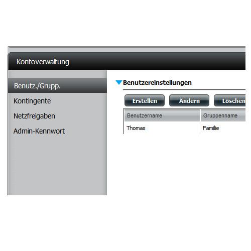 NAS - Network Attached Storage - Benutzer- und Gruppenverwaltung