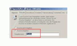 Tutorial: Einen Netzwerkdrucker im Heimnetzwerk einrichten - Drucker freigeben - Option Drucker freigeben aktivieren