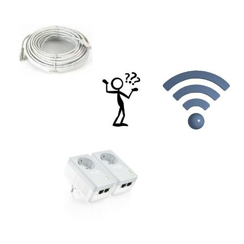 Netzwerkkabel, WLAN- oder Powerline-Netzwerk