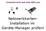 Netzwerkkarten-Installation im Gerätemanager prüfen