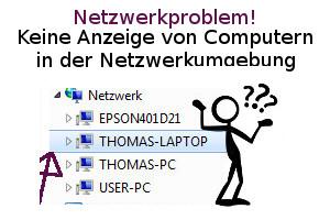 Netzwerk Tutorial: Netzwerkproblem! Es werden keine anderen Computer in der Netzwerkumgebung angezeigt